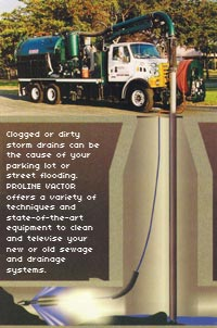How PROLINE's vactor trucks clean clogged storm and sewer drains
